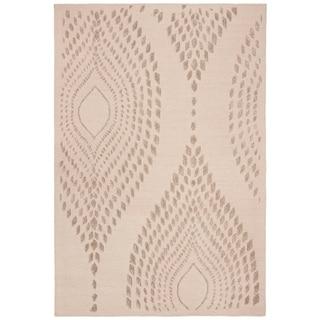 Safavieh Handmade Bella Abstract Sand / Brown Wool Rug (8' x 10')