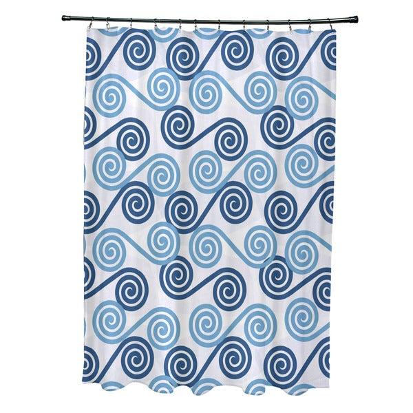 Rip Curl Geometric Print Shower Curtain