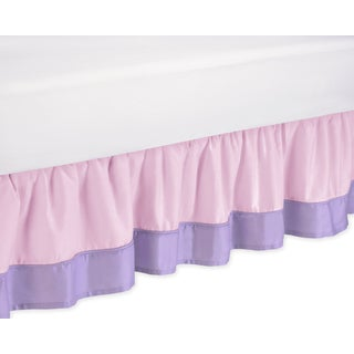 Sweet Jojo Designs Pink and Purple Butterfly Toddler-size Bedskirt