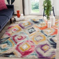 Safavieh Monaco Bohemian Vibrant Watercolor Rainbow Distressed Rug (9' x 12')