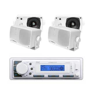 Pyle KTMRGS47 In-Dash Marine AM/FM USB/SD Stereo Player Receiver Aux-In for iPod/MP3 + 4 x 3.5-inch 200W Speakers|https://ak1.ostkcdn.com/images/products/12914767/P19669804.jpg?impolicy=medium