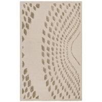 Safavieh Handmade Bella Abstract Sand / Brown Wool Rug - 2'6 x 4'