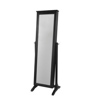 Decor Therapy Black Wood-framed Mirrored Jewelry Armoire