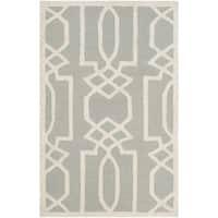 Safavieh Handmade Bella Grey / Ivory Wool Rug - 2'6 x 4'