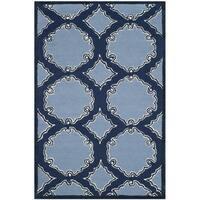 Safavieh Handmade Bella Navy / Blue Wool Rug - 2'6 x 4'