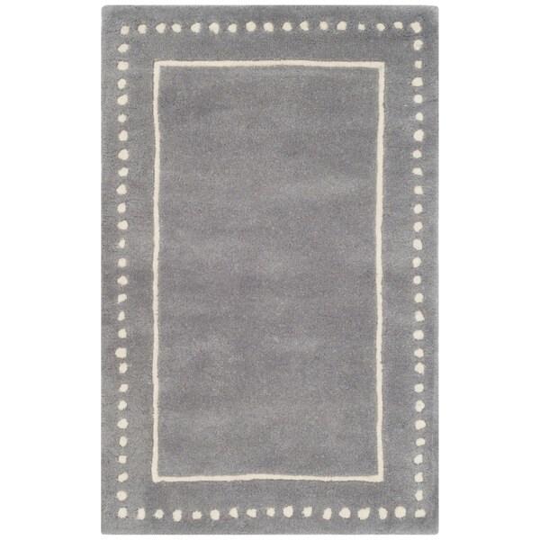 25a330405 Shop Safavieh Handmade Bella Silver   Ivory Wool Rug - 2 6
