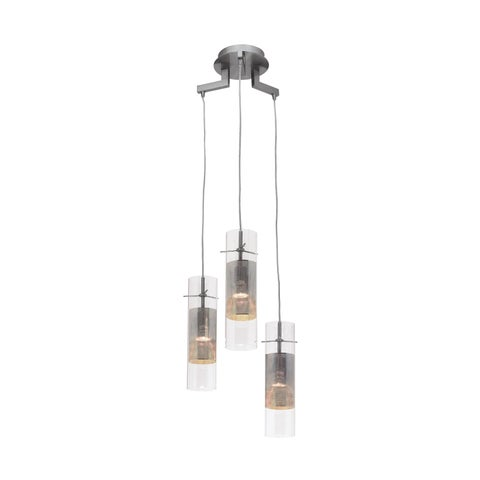 Access Lighting Spartan 3-light Brushed Steel Pendant
