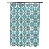 Beach Tile Geometric Print Shower Curtain