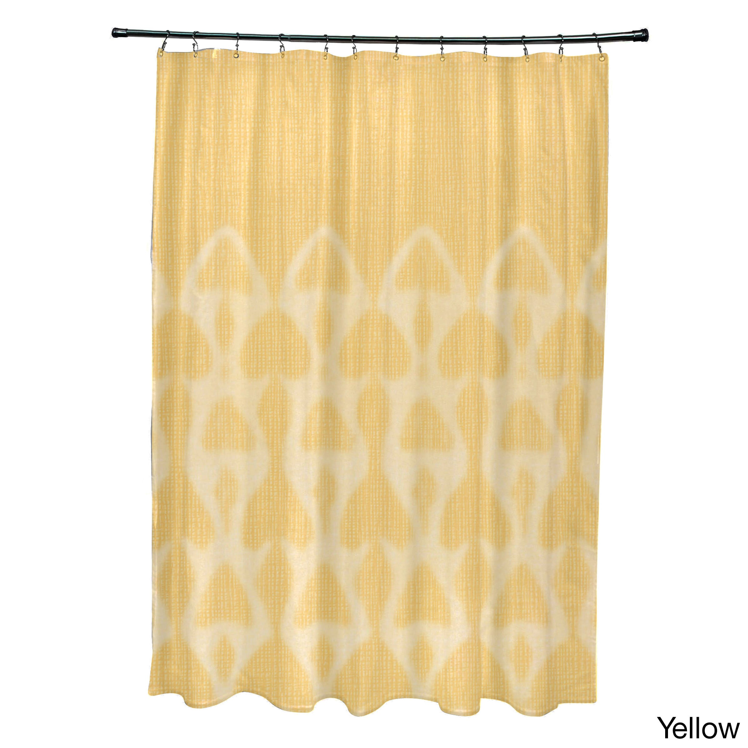 Shower Curtain With Yellow   Bathroom Accessories ...
