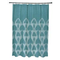 Watermark Geometric Print Shower Curtain