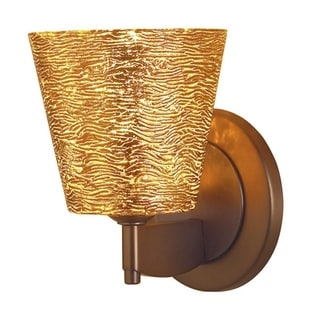 Bruck Lighting Bling 1 Bronze/Gold-textured Glass Shade Low-voltage Wall Sconce