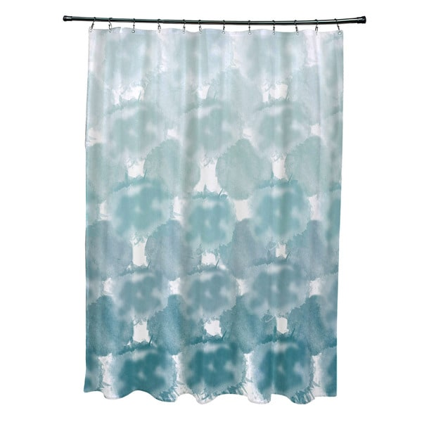 Beach Clouds Geometric Print Shower Curtain