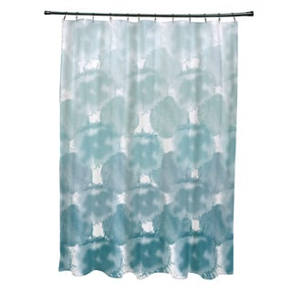 Beach Clouds Geometric Print Shower Curtain