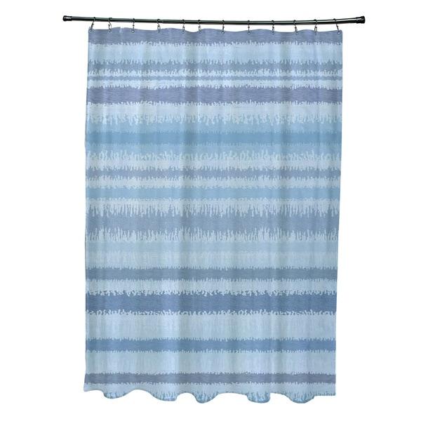Raya De Agua Stripe Print Shower Curtain