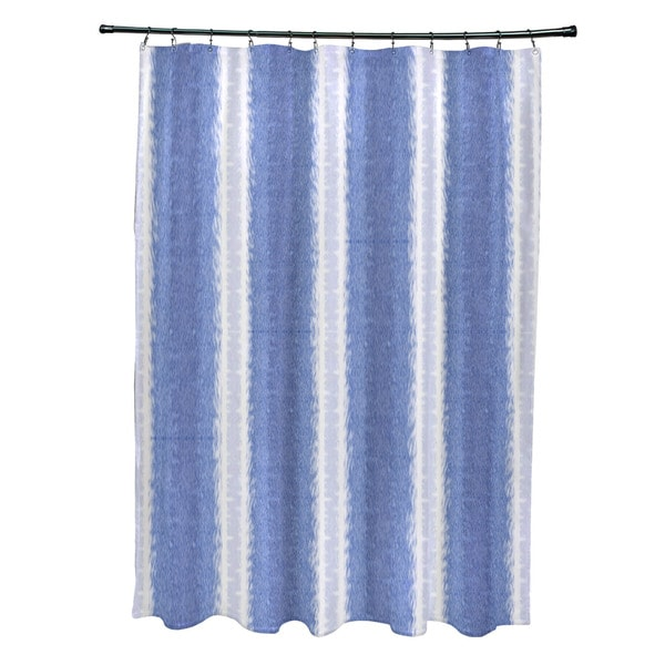 Sea Lines Stripe Print Shower Curtain