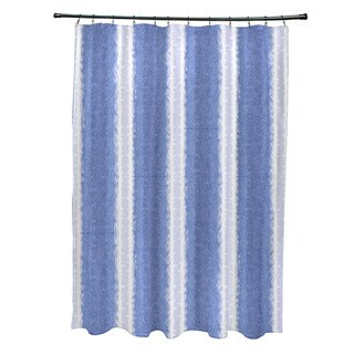 Sea Lines Stripe Print Shower Curtain