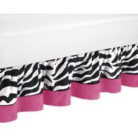 Sweet Jojo Designs Pink Funky Zebra Queen-size Bedskirt