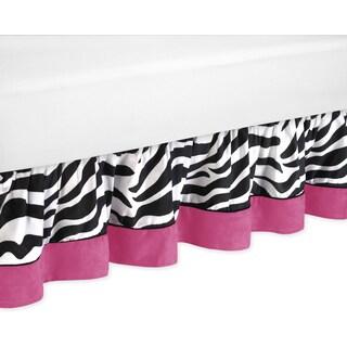 Sweet Jojo Designs Pink Funky Zebra Queen-size Bedskirt (Option: Queen)
