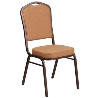 HERCULES Series Crown Back Stacking Banquet Chair with 2.5-inch Thick Seat