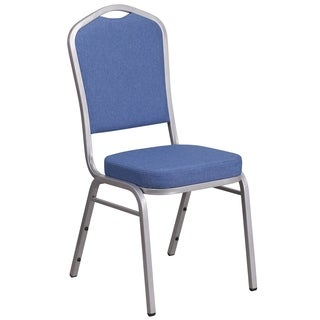 HERCULES Series Crown Back Stacking Banquet Chair with Fabric and 2.5-inch Thick Seat