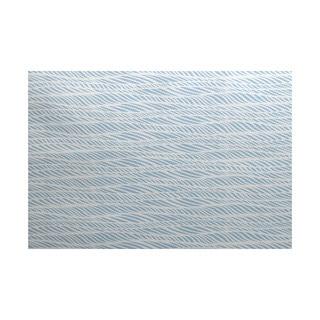 Rolling Waves Geometric Print Indoor, Outdoor Rug (5' x 7')