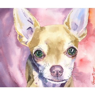 Marmont Hill - 'Chihuahua' by George Dyachenko Painting Print on Wrapped Canvas