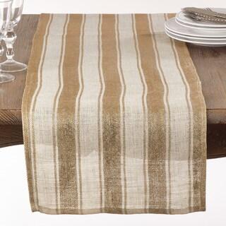 Striped Foil Burlap Table Runner