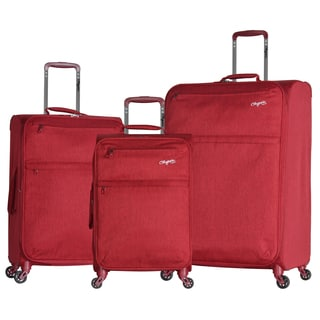 Olympia Florence 3-piece Expandable Lightweight Spinner Luggage Set