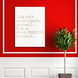 Portfolio Canvas Decor 'Creating Yourself' Canvas Print Wall Art