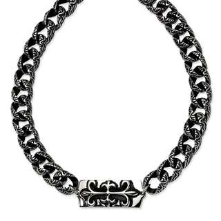 Stainless Steel Antiqued Gothic Necklace