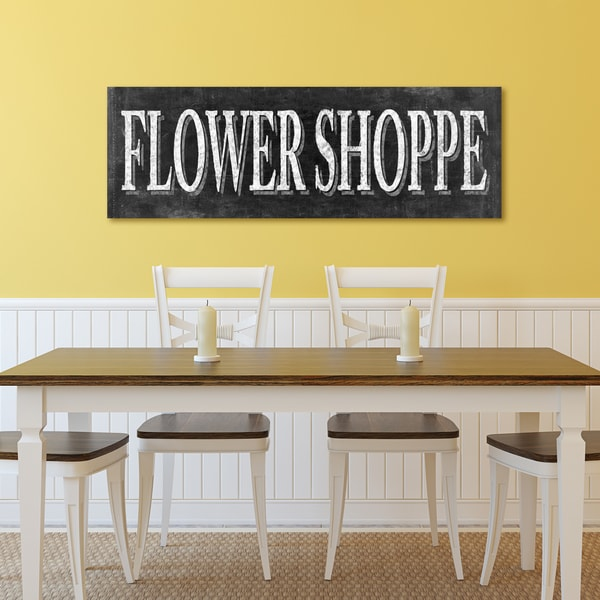 Portfolio Canvas Decor IHD Studio \'Chalkboard - Flower Shoppe I ...
