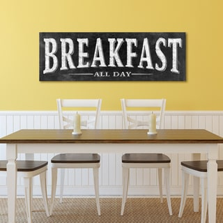 Portfolio Canvas Decor IHD Studio 'Chalkboard - Breakfast 2' Stretched and Wrapped Wall Art