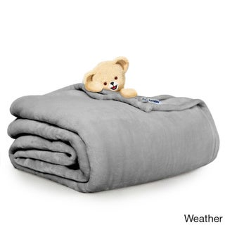Ultra Lux Microplush Solid Color Wrinkle Resistant, Easy Care, Snuggly Soft All Season Blanket by Snuggle