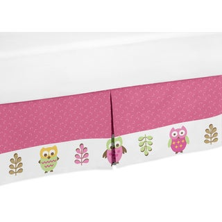 Sweet Jojo Designs Happy Owl Queen-size Bedskirt