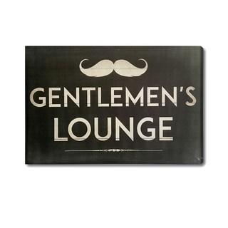 """""""Gentleman's Lounge"""" Graphic Art Plaque"""