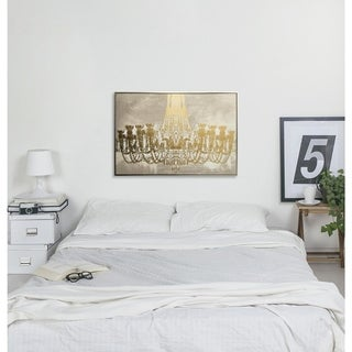 """Gala Night Luxe"" Gold Foil Framed Art on Canvas"