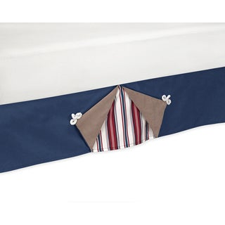 Sweet Jojo Designs Nautical Nights Queen-size Bedskirt