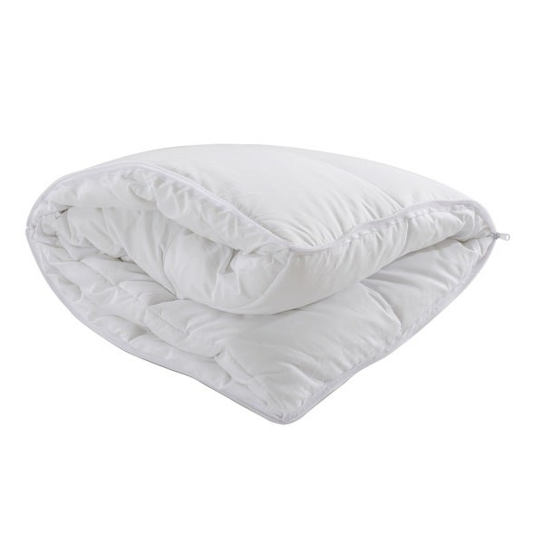 Cheer Collection Hypoallergenic Interchangeable Pillow/Comforter White