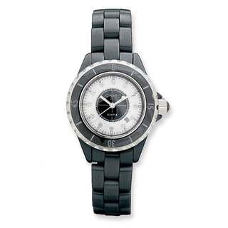 Chisel Women's Black Ceramic/Black and White Dial Watch