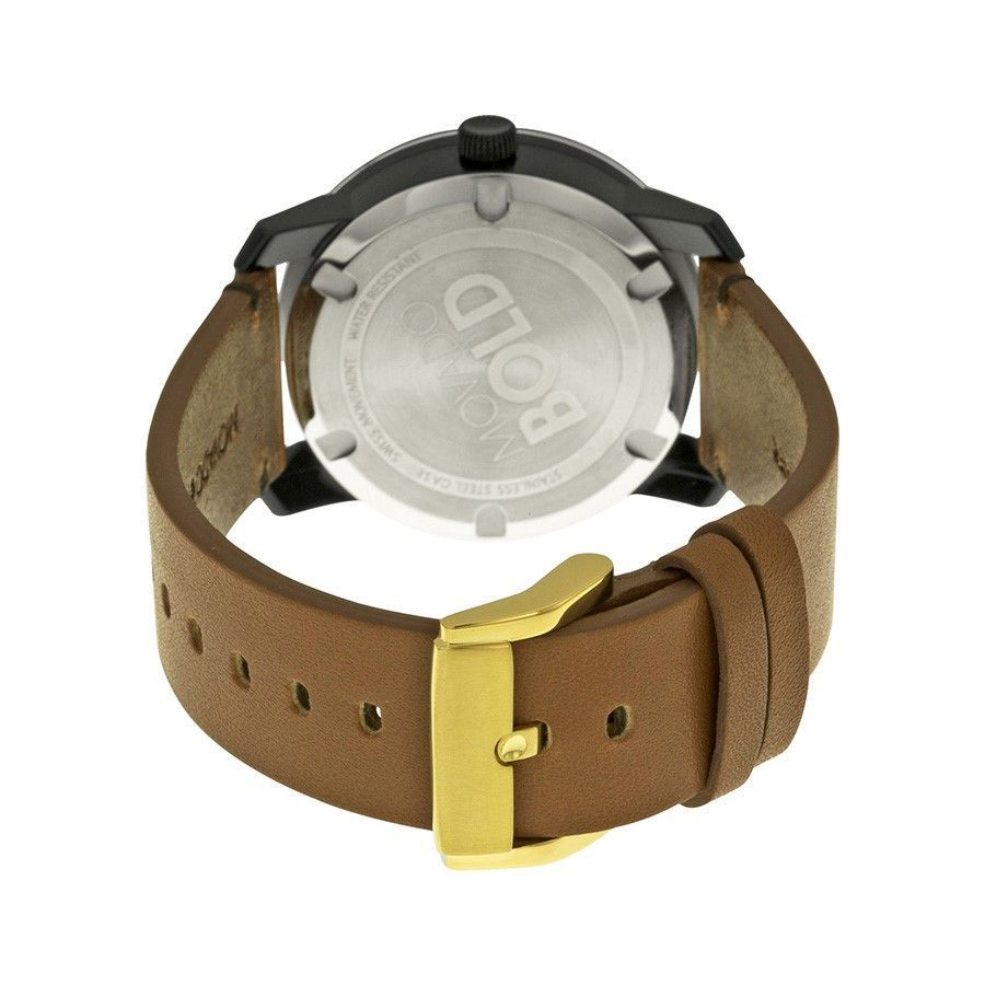 a43e53ca2 Shop Movado Men's 3600305 'Bold' Brown Leather Watch - Free Shipping Today  - Overstock - 12915164