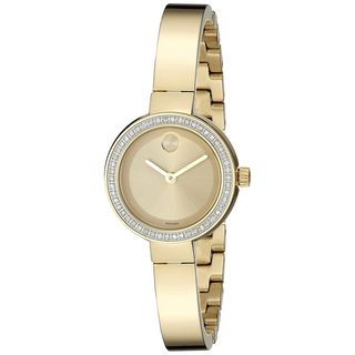Movado Women's 3600322 'Bold' Diamond Gold-Tone Stainless Steel Watch