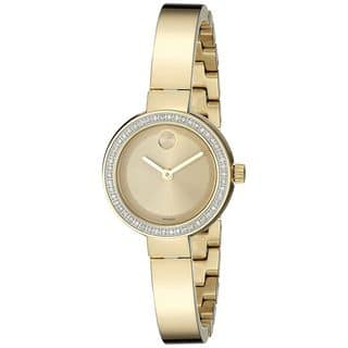 Movado Women's 3600322 'Bold' Diamond Gold-Tone Stainless Steel Watch|https://ak1.ostkcdn.com/images/products/12915166/P19670136.jpg?impolicy=medium