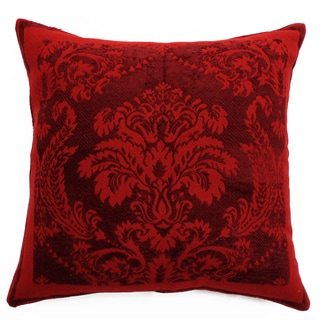 Chenille Damask Wool and Viscose Throw Pillow