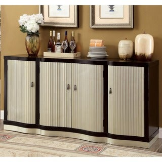 Furniture of America Daphne Contemporary Espresso/Silver 4-door Dining Server
