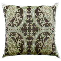 Persian Charm Green Boiled-wool 20-inch x 20-inch Throw Pillow