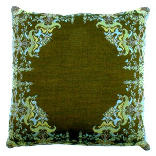 Agra Teal Boiled Wool Throw Pillow
