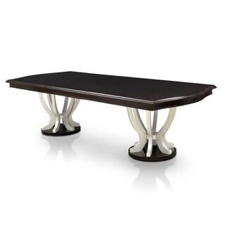 Copper Grove Buhovo Contemporary 106-inch Espresso Dining Table  - Gold