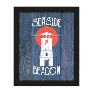 'Seaside Beacon' Framed Canvas Wall Art