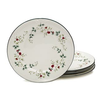 pfaltzgraff winterberry dinner plates set of 4 - Christmas Plates