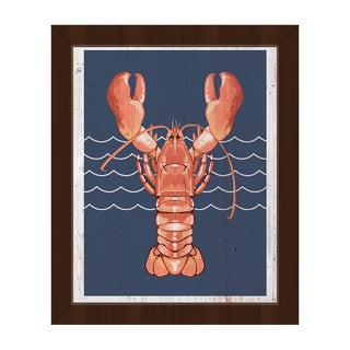 'Lobster Life Coral' Framed Canvas Wall Art